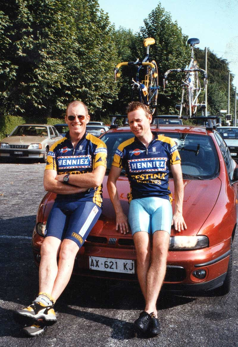 Pat with Ian Parr after the Giro di Lago di Como.
